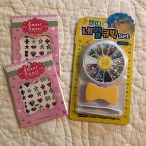 Nail decoration kits. New, never used/opened.